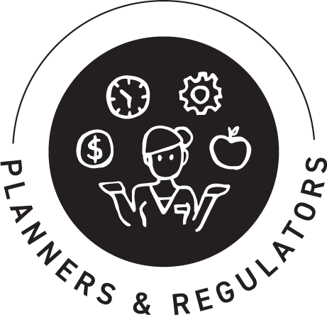 Planners and regulators