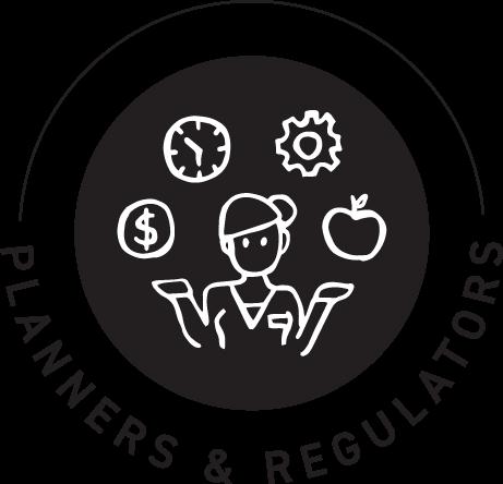 Planners and regulators