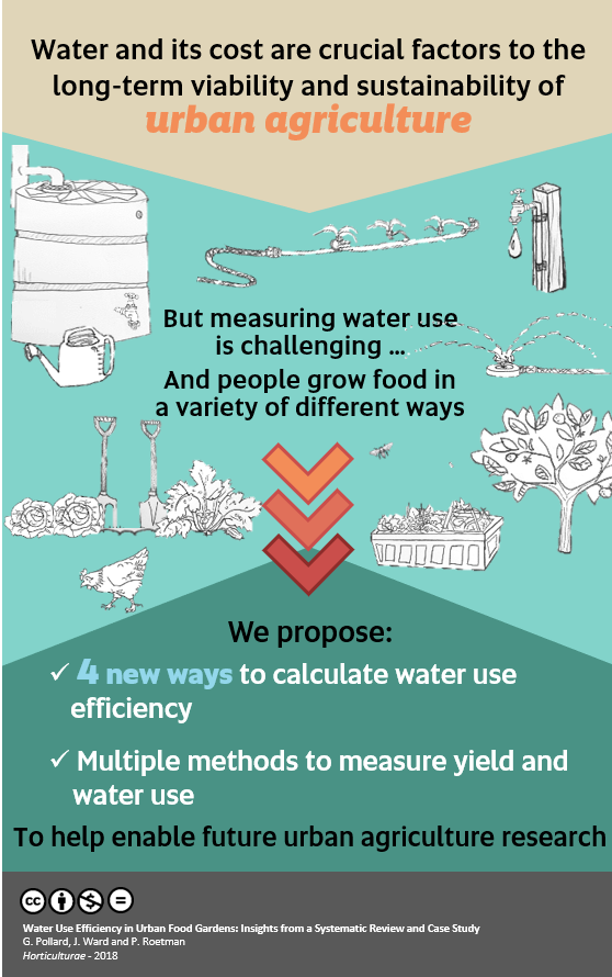 'Water use efficiency in urban food gardens: Insights from a systematic review and case study'